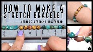 ✨ How To Make Beaded Stretch Bracelets #2 ✨ Stretchy Opelon Thread, Or Floss ✨ Beaded Jewelry