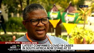President Cyril Ramaphosa has convened a special cabinet meeting for today to discuss ways of intensifying the battle against the coronavirus in South Africa. The number of confirmed COVID-19 cases in South Africa has increased from 38 to 51. For more on today's cabinet meeting, we cross live to our reporter Samkele Maseko at the Union Buildings in Pretoria.  For more news, visit sabcnews.com and also #SABCNews on Social Media.