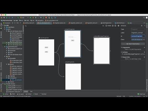 71- Android P Navigation (storyboard)- بناء الواجهات الرسومية في اصدار اندرويد الجديد