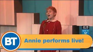 Annie performs live