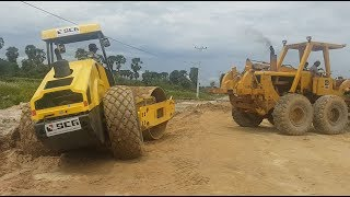 Amazing Recovery Roller 14 Ton Stuck At Work Place