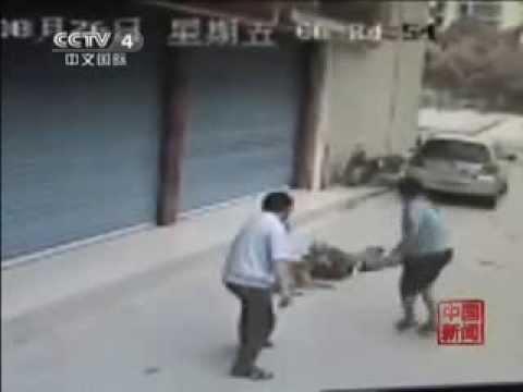 """Trung Quốc: Clip gây sốc """"Chó cắn chết chủ khi đi dạo"""""""