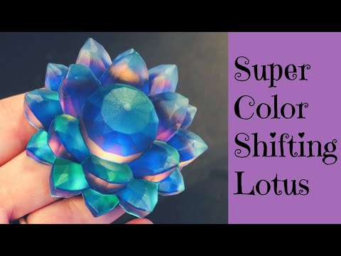 Super Color Shifting Faux Silver Crystal Lotus Flower 5 to 6 Colors WOW! Resin and UV Resin Tutorial