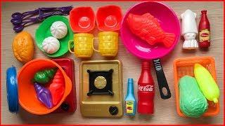 Đồ chơi nấu ăn cho bé 30 món, có bếp gas, nồi chảo, thìa dĩa, thức ăn... / Kitchen toys ( Chim Xinh)