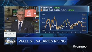 Wall Street salaries at their highest levels since the financial crisis, but banks stocks aren't pay