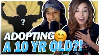 POKI ADOPTS A 10 YEAR OLD THROUGH FORTNITE?! FT. CIZZORZ