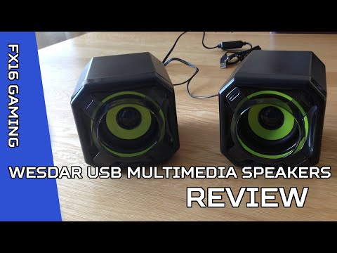 WESDAR USB Powered Multimedia PC Speakers- Unboxing and Review