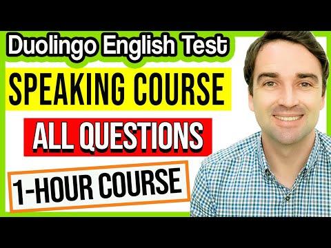Duolingo English Test Speaking Course - 1 hour of speaking ...