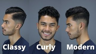 3 Hairstyles For Curly/Wavy Hair | 5 Tips To Style Your Hair