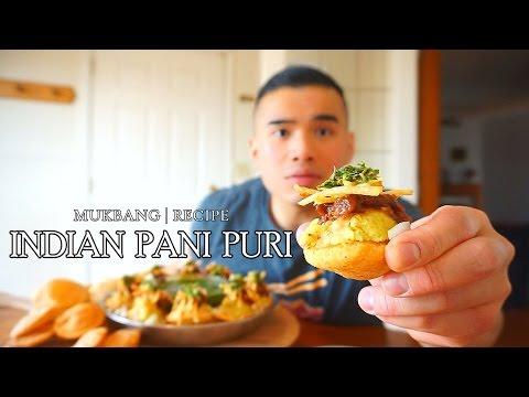QT  INDIAN PANI PURI   MUKBANG   RECIPE