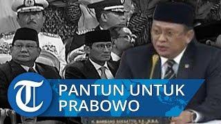 Lihat Ekspresi Wajah Prabowo-Sandi saat Dengar Pantun dari Ketua MPR di Pelantikan Jokowi-Ma'ruf