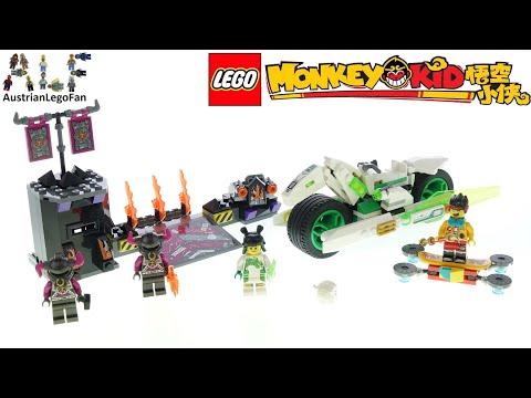 Vidéo LEGO Monkie Kid 80006 : La moto Cheval-Dragon blanc