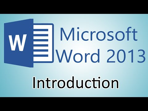 Microsoft Word 2013 Tutorial – Introduction