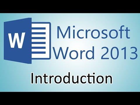 Microsoft Word 2013 Tutorial – Introduction