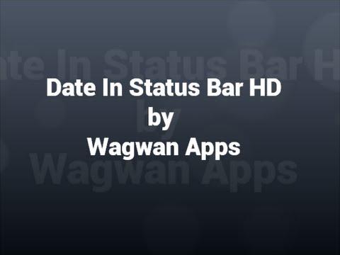 Video of Date in Status Bar HD