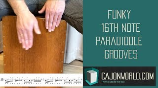 Funky 16th Note Paradiddle Grooves