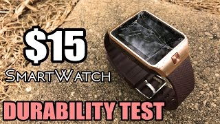 $15 Smart Watch DURABILITY TEST - DZ09 (Drop & Crush Test)
