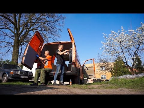 CARPETING THE WALLS | van conversion | Volkswagen T4 Transporter
