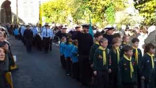 preview picture of video 'Warwick Remembrance Sunday Parade (11th November 2012).'