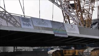 preview picture of video 'Taunton Third Way bridge lift - 24 March 2011'
