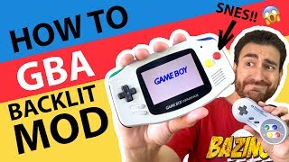 HOW TO Game Boy Advance AGS 101 Backlit Mod!   SNES Themed GBA Tutorial! 😱
