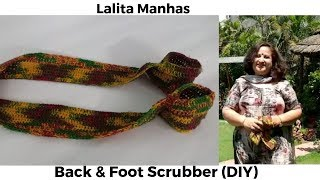 To make your own back and foot scrubber at home #diy #knit   Body Scrubber   #howto