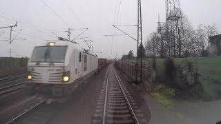 Train drivers eye view in real time. Lehrte - Ronnenberg