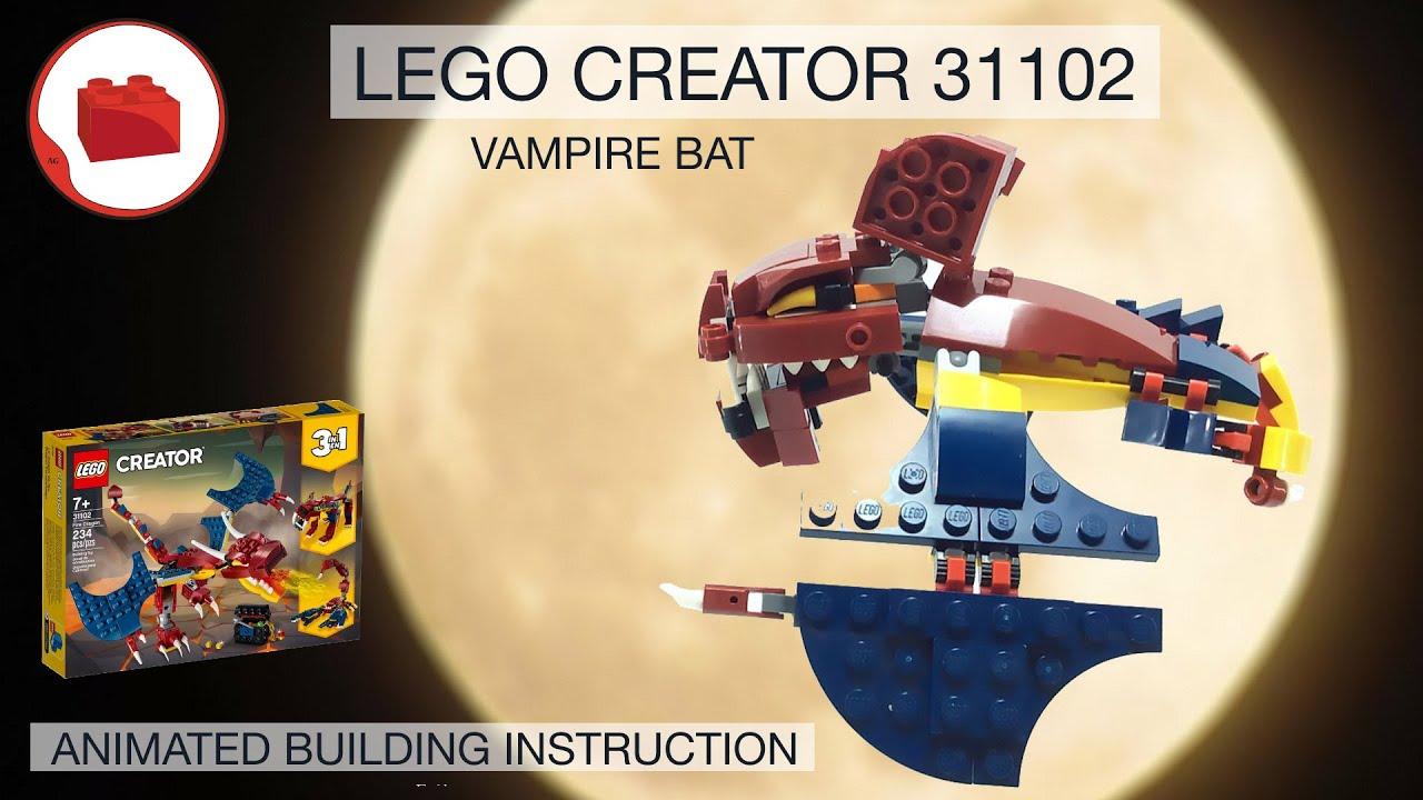 LEGO CREATOR 31102 alternative build instructions - BAT MOC - Летучая мышь - Самоделка, Инструкция