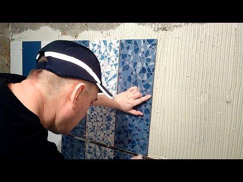 Укладка плитки на стены в ванной за 1 день своими руками. Отделка ванной комнаты дорогой плиткой
