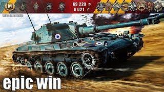 ЭПИЧНЫЕ МЕДАЛИ на СТОКОВОЙ ЁЛКЕ 🌟🌟🌟 World of Tanks лучший бой AMX ELC bis wot как играть