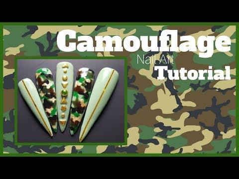 Camouflage Nail Art Tutorial - смотреть онлайн на Hah Life