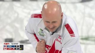 2019 Pioneer Hi-Bred World Mens Curling - USA (Shuster) Vs. Canada (Koe)