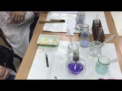 Lekcja chemii – reakcja biuretowa