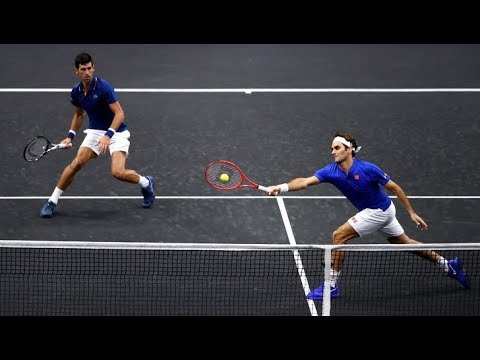 FedererDjokovic vs SockAnderson - Laver Cup 2018 Highlights (HD)