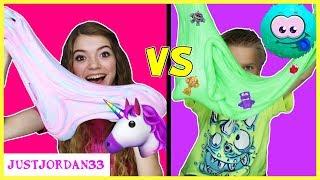 Unicorn Slime vs Monster Slime / JustJordan33