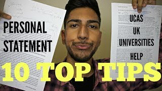 How to Write a PERSONAL STATEMENT for Top UK UNIVERSITIES