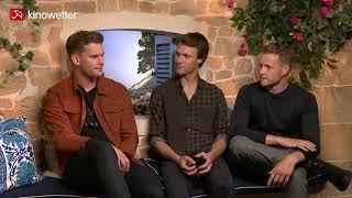 Interview Jeremy Irvine, Hugh Skinner & Josh Dylan MAMMA MIA! HERE WE GO AGAIN