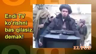 Афғонистонлик ўзбеклар телевизорни синдиришмоқда
