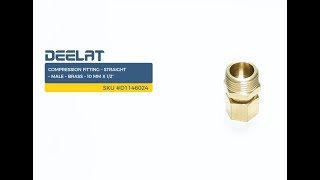 "Compression Fitting – Straight – Male – Brass – 10 mm x 1/2""     SKU #D1146024"