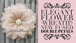 Flower Wreath Tutorial /  How To Make A Deco Mesh Wreath / Bling Center