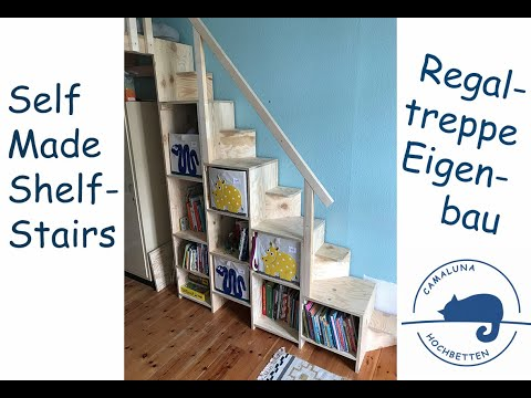 Regaltreppe selbst gebaut stair-shelf or shelf-stair anyway