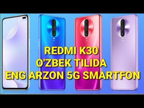 REDMI K30- O'ZBEK TILIDA/ ENG ARZON 5G SMARTFON ! / REDMI BOOK 13 HAQIDA
