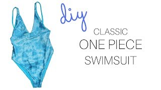 DIY Classic One Piece Swimsuit || Katie Fredrickson