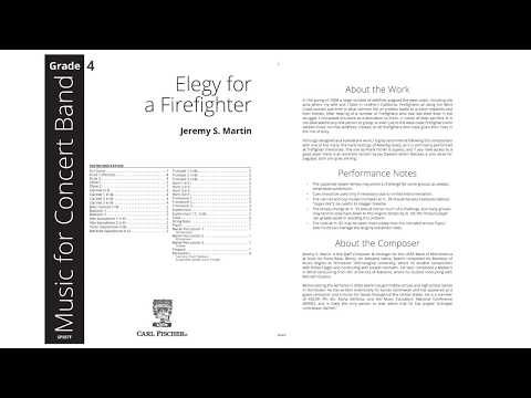 Elegy for a Firefighter (SPS87) by Jeremy S. Martin