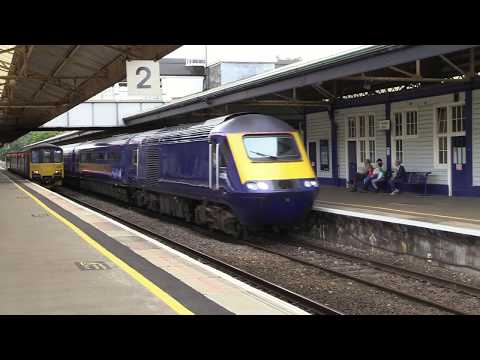 ex-FGW 43021 & 43132 say goodbye to Devon as they pass Newto…