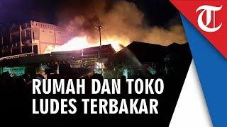 Rumah dan Toko di Jalan Cilik Riwut Kualakapuas Ludes Dilahap Si Jago Merah