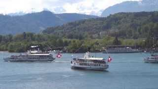 preview picture of video 'Steamboats on Lake Lucerne in beautiful Lucerne Switzerland'