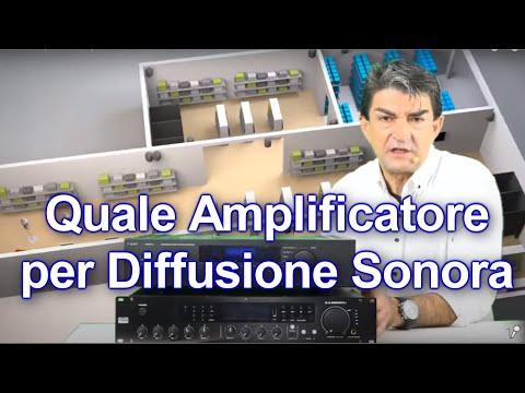 Quale Amplificatore per Diffusione Sonora?