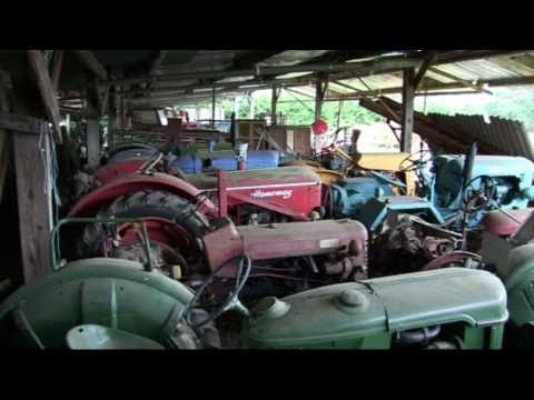 OLD TRACTORS, (PART 4) OLD TRACTORS AND FARM MACHINERY STORED IN OLD PRIVATE BARNS.