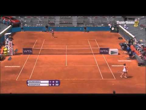 , title : '2014 Madrid 1 2 Agnieszka Radwanska vs Maria Sharapova Amazing Point'